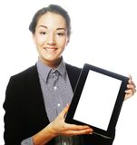 Young business woman showing tablet Stock Photos