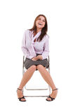 Young Business Woman Sitting Down Royalty Free Stock Photos