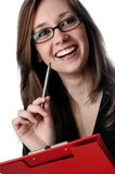 Young business woman smile Stock Photo