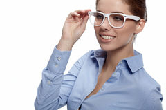Young business woman smiling Royalty Free Stock Photo