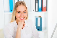 Young business woman smiling Stock Photography