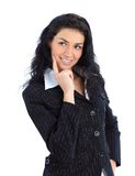 Young business woman smiling isolated Stock Photography