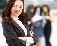 Young business woman smiling Stock Image