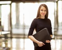 Young business woman smiling Stock Images