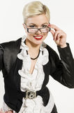 Young Business Woman smiling Royalty Free Stock Image