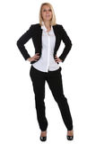 Young business woman standing secretary boss manager occupation. Job isolated on a white background Stock Photos