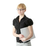 Young business woman or student Royalty Free Stock Photography