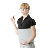 Young business woman or student Stock Images