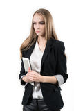 Young business woman with tablet computer Royalty Free Stock Photography