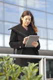 Young business woman with a tablet Royalty Free Stock Photos