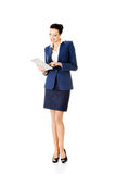 Young business woman with  tablet. Stock Image