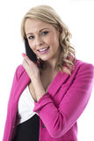 Young Business Woman Talking on a Mobile Cell Phone Stock Photos