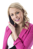 Young Business Woman Talking on a Mobile Telephone Royalty Free Stock Image