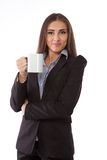 Young business woman with a tea cup Stock Images