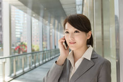 Young business woman use cellphone Stock Photos
