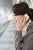 Young business woman use cellphone Stock Photo