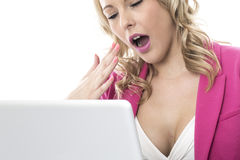 Young Business Woman Using a Laptop Computer Stock Image
