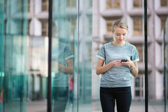 Young business woman using the phone Royalty Free Stock Photo
