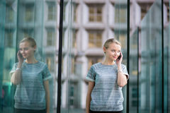 Young business woman using the phone Royalty Free Stock Image