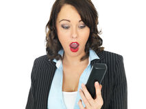 Young Business Woman Using a Telephone Shocked Stock Images