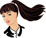 Young business woman vector portrait Royalty Free Stock Images