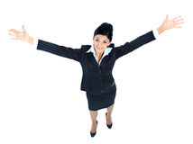 Young business woman walking Royalty Free Stock Photography