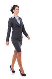 Young business woman is walking Royalty Free Stock Photography