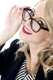 Young Business Woman Wearing Glasses Royalty Free Stock Photo
