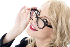 Young Business Woman Wearing Glasses Stock Image