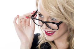 Young Business Woman Wearing Glasses Royalty Free Stock Images