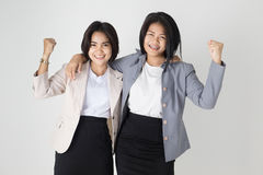 Young Business woman. Young Business women on gray background Stock Images