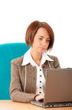 Young business woman workin Stock Photo