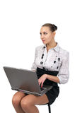 Young business woman working on Stock Photos