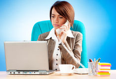 Young business woman working Stock Photos