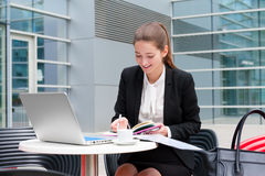 Young Business Woman Working Stock Photography