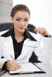 Young business woman working Royalty Free Stock Photos