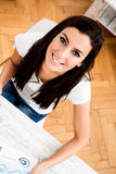 Young business woman working from home Stock Images