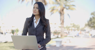 Young Business Woman Working On A Laptop Royalty Free Stock Photo