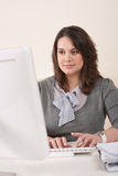Young business woman working at office Royalty Free Stock Photo
