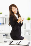 Young business woman working in office Royalty Free Stock Photography