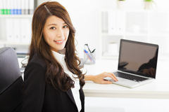 young business woman working in the office Stock Photos