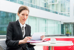 Young business woman working Royalty Free Stock Images