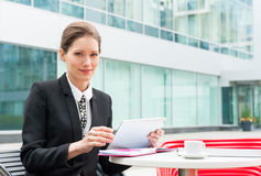 Young business woman working Royalty Free Stock Photo
