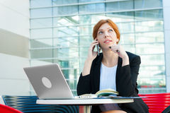 Young business woman working Royalty Free Stock Image