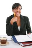 Young Business Woman Working on Report Royalty Free Stock Images