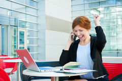 Young business woman working Royalty Free Stock Photography