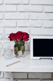 Young business woman workspace Stock Image
