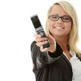Young business women calling by cellular phone Royalty Free Stock Photography