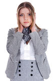 Young business women closing her ears Stock Photography