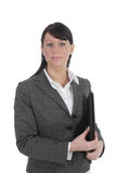 Young Business Women With Portfolio Stock Image